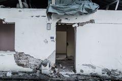 Desolated παλαιό κτήριο ιστορίας Στοκ φωτογραφία με δικαίωμα ελεύθερης χρήσης