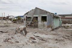 Desolated ландшафт после извержения вулкана в Chaiten. Стоковые Фотографии RF