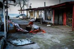 Desolated масленица и справедливая область Стоковая Фотография RF
