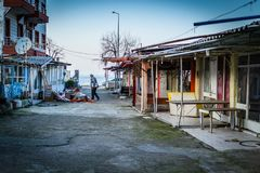 Desolated масленица и справедливая область Стоковая Фотография