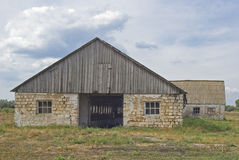 Desolated barn in Ukraine. Stock Photos