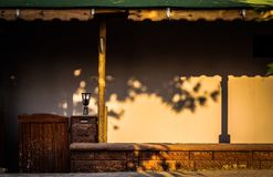 Desolated Cafe Bar With Sun Light And Shadows - Turkey. Local desolated cafe bar next to a street in Cinarcik town. Cinarcik town is a popular summer vacation stock photography