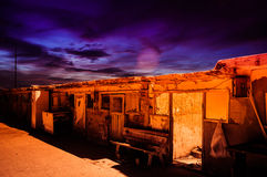 Desolated Fishermen Shelters. Fishermen shelter establishment in the port of Cinarcik town - which is the district of Yalova city of Turkey. Local residents Royalty Free Stock Photo