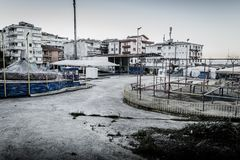 Desolated Fun Fair In Cinarcik Town - Turkey Royalty Free Stock Image