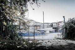 Desolated Fun Fair In Cinarcik Town - Turkey Stock Image