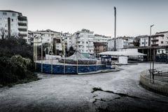 Desolated Fun Fair In Cinarcik Town - Turkey Royalty Free Stock Images