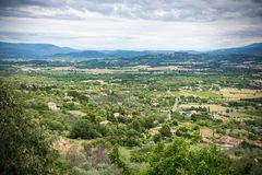 Desolated landscape. In Provence France stock images