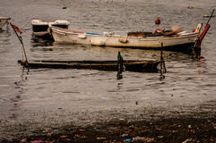 Desolated Old Rowboat Royalty Free Stock Photography