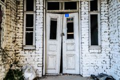 Desolated Old Two Story Turkish House Stock Photo