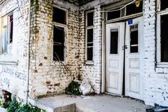 Desolated Old Two Story Turkish House Stock Photos