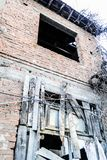 Desolated Old Two Story Turkish House Stock Photography