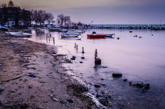 Desolated Sea Port. Desolated and empty sea port in Cinarcik town of the country Turkey located nearby the Marmara sea. Photo taken at: 2017-03-03 stock image