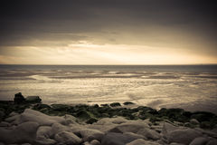 Desolated seaside view Royalty Free Stock Photos