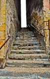 Desolated stairway in bad district Royalty Free Stock Images