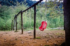 Desolated Swings On Natural Park Stock Image