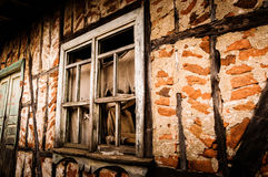 Desolated Village House Window Royalty Free Stock Photos