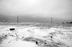 Desolated winter. Desolated scenery in the winter royalty free stock photos