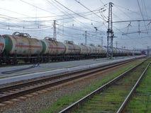 Desolatie typeert Russische treinstations Royalty Free Stock Photo