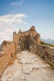 Desolation Великой Китайской Стены стоковые фотографии rf
