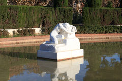 Desolation sculpture, Parc de la Ciutadella in Barcelona. Spain royalty free stock image