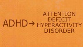 Desordem-ADHD da hiperatividade do deficit de atenção Imagens de Stock Royalty Free