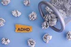 Desordem da hiperatividade do deficit de atenção de ADHD Fotos de Stock