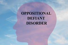 Desordem desafiante relativa à oposição - conceito mental ilustração stock