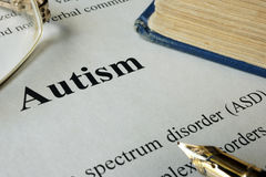 Desorden ASD del espectro del autismo Foto de archivo libre de regalías