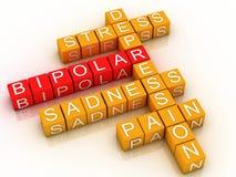 desorden bipolar 3d Imagen de archivo libre de regalías
