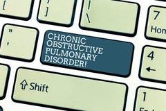 Desorden pulmonar obstructor crónico del texto de la escritura Llave de teclado requerida del tratamiento médico de la enfermedad ilustración del vector
