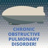 Desorden pulmonar obstructor crónico del texto de la escritura Torpedo requerido del tratamiento médico de la enfermedad del sign libre illustration