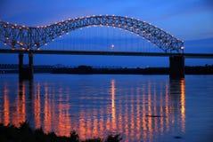 DeSoto-Brücke auf dem Mississippi Riover Lizenzfreies Stockfoto