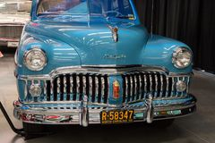 1950 DeSoto. CONCORD, NC - September 22, 2017:  A 1950 DeSoto automobile on display at the Pennzoil AutoFair classic car show held at Charlotte Motor Speedway Stock Image