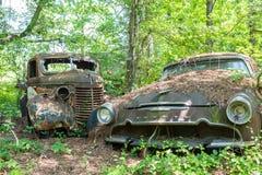 Desoto e vecchio camion Immagine Stock