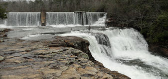 DeSoto Falls in Alabama. Beautiful DeSoto Falls State Park in rural Alabama, near Mentone, in the winter Royalty Free Stock Photos