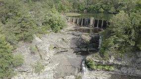 Desoto Falls. Short video clip of Desoto Falls near Mentone Alabama. The water is lower than normal in this clip stock video