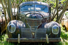 DeSoto Grill. DETROIT, MICHIGAN - May 11, 2015:The DeSoto was an American automobile brand manufactured and marketed by the now-defunct DeSoto Division of the Royalty Free Stock Images
