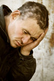 Despair. Big problems and headache after hard drunkenness Stock Image