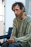 Sad homeless man in despair Stock Photo