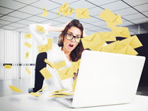 Free Despair And Stress For Spam E-mail Stock Image - 74629401