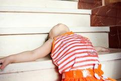 Despair of arab baby girl Royalty Free Stock Photo