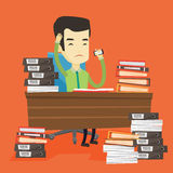 Despair business man working in office. Royalty Free Stock Photos