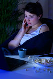 Despair girl spending evening alone. Image of despair girl spending evening alone Royalty Free Stock Photography