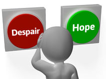Despair Hope Buttons Show Desperate Or Hoping. Despair Hope Buttons Showing Desperate Or Hoping Royalty Free Stock Photo