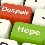 Despair Or Hope Computer Keys. Shows Hopeful or Hopeless Stock Photo