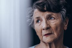 Despair old woman Royalty Free Stock Photography