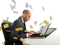Despair and stress for spam e-mail Royalty Free Stock Photo