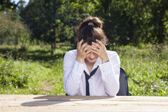 Despair when talking about work Royalty Free Stock Images