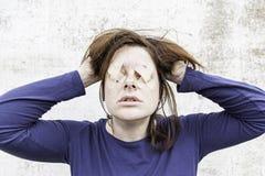 Despair in women Stock Photo