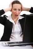 Despair at work Royalty Free Stock Images